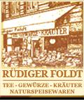 Rüdiger Foldt · Tee · Gewürze · Kräuter · Naturspeisewaren-Logo